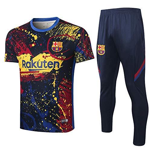 Uniformes de Entrenamiento de fútbol Club Uniformes de fútbol Camisetas y Pantalones de Manga Corta Transpirables y de Secado rápido