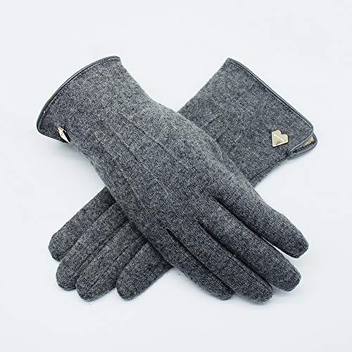 Uoyov Guantes nuevo otoño y el invierno más gruesa de terciopelo de la pantalla táctil de la Mujer de lana de cachemira caliente en automóvil y dedo frío Estudiante montar al aire libre no alcohólicas