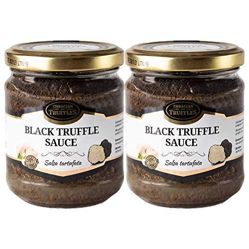 Zwarte zomertruffel Tuber aestivum Salsa Tartufata Black truffle Luxe Gourmet saus Pasta ideaal voor vlees, gegrild brood, omeletten, pasta, risotto, sushi 2 x 80g