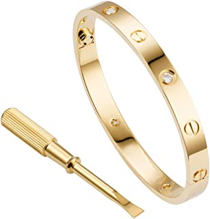 Love Bracelet Jewelry Bangle for Women and Men with Screwdriver