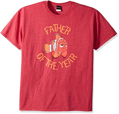 Disney Playera gráfica de Buscando a Dory Marlin Nemo para Hombre, Red//Father of The Year, Medium