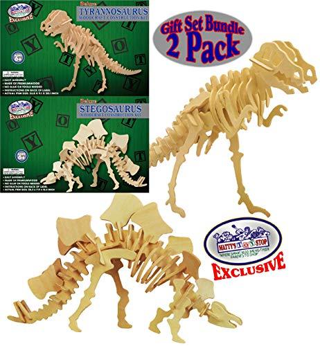 Matty's Toy Stop Deluxe Large 3D Dinosaur Wood Puzzle Craft Kits T-Rex Tyrannosaurus (35.8