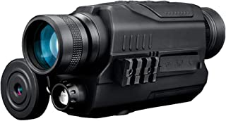 Image of MXXQQ Digital Night Vision Monocular for Hunting, Built-in 850Nm Illuminator, 5X Zoom HD IR Camera, 656Ft/200M Viewing Range, for Outdoor Travelling, Sightseeing