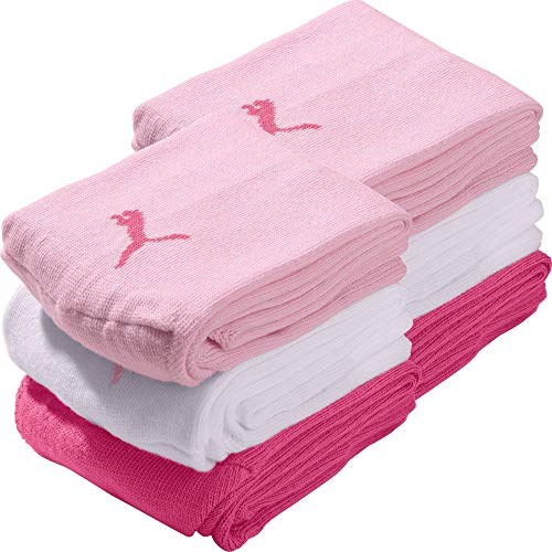 PUMA Socks Damen-Quarter-Socken 6er-Pack pink, weiß, rosa Größe 39-42