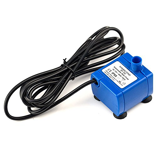 JIAN YA NA Super Silent New SP160 Replacement 12V Electric Water Pump 5.9ft Long Cable Low Power Consumption Motor Compatible for Eleoption Flower Pet Fountains (Blue Pump)