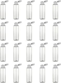 Beaupretty 20pcs Bottiglie da viaggio in plastica Porable Flip Top Contenitore per bottiglie da viaggio per shampoo