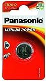 Panasonic CR2012 Pila botón de litio no-recargable, 3V, 55 mAh, Paquete de 1 unidad