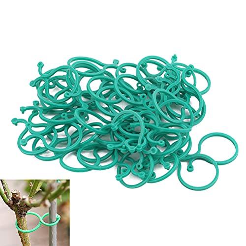 Metdek 50 pcs Clips para Plantas de Jardín Reutilizable Plastico Abrazadera para Asegurar y Conectando Plantas Trepadoras Tomates Flores Tallos Grow Vertical Pinzas para Flores