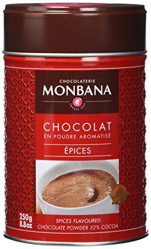 Monbana Schokoladenpulver Gewürzschokolade 250g Dose (mind. 32% Kakao), 1er Pack (1 x 250 g)