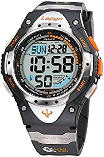 Teens Watches for Boys 100M Water-Resistant Dual Time 3 Alarms Digital Outdoor Sport Gifts for Mens Young