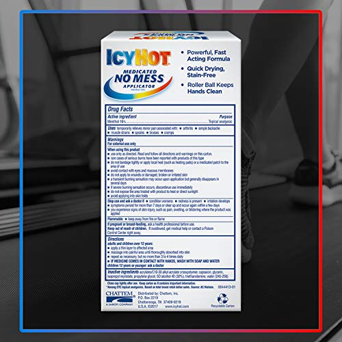 Icy Hot No Mess Applicator, 2.5 Ounce