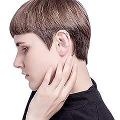 Milacolato 20Pcs Adjustable Ear Cuffs Earrings Set for Women Stainless Steel Non-Piercing Cartilage Clip On Wrap Earring Set #3