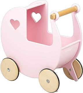Moover Wooden Doll's Pram, Pink