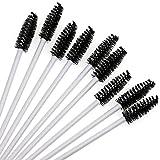 350 piezas de cepillo de pestañas desechable cepillo de maquillaje de pestañas rímel palo herramienta de cable de extensión de pestañas - negro