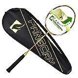 FANGCAN N90 II H. M. De Prestrung carbone ultra léger-Raquette de Badminton-Doré