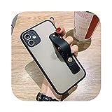 LLYAP 手首ストラップカメラ保護電話ケースfor iPhone 11プロXS最大XR X 7 8プラスSE 2020ソフトTPUマットPCハードスタンドバックカバー-T7-for iPhone XS Max