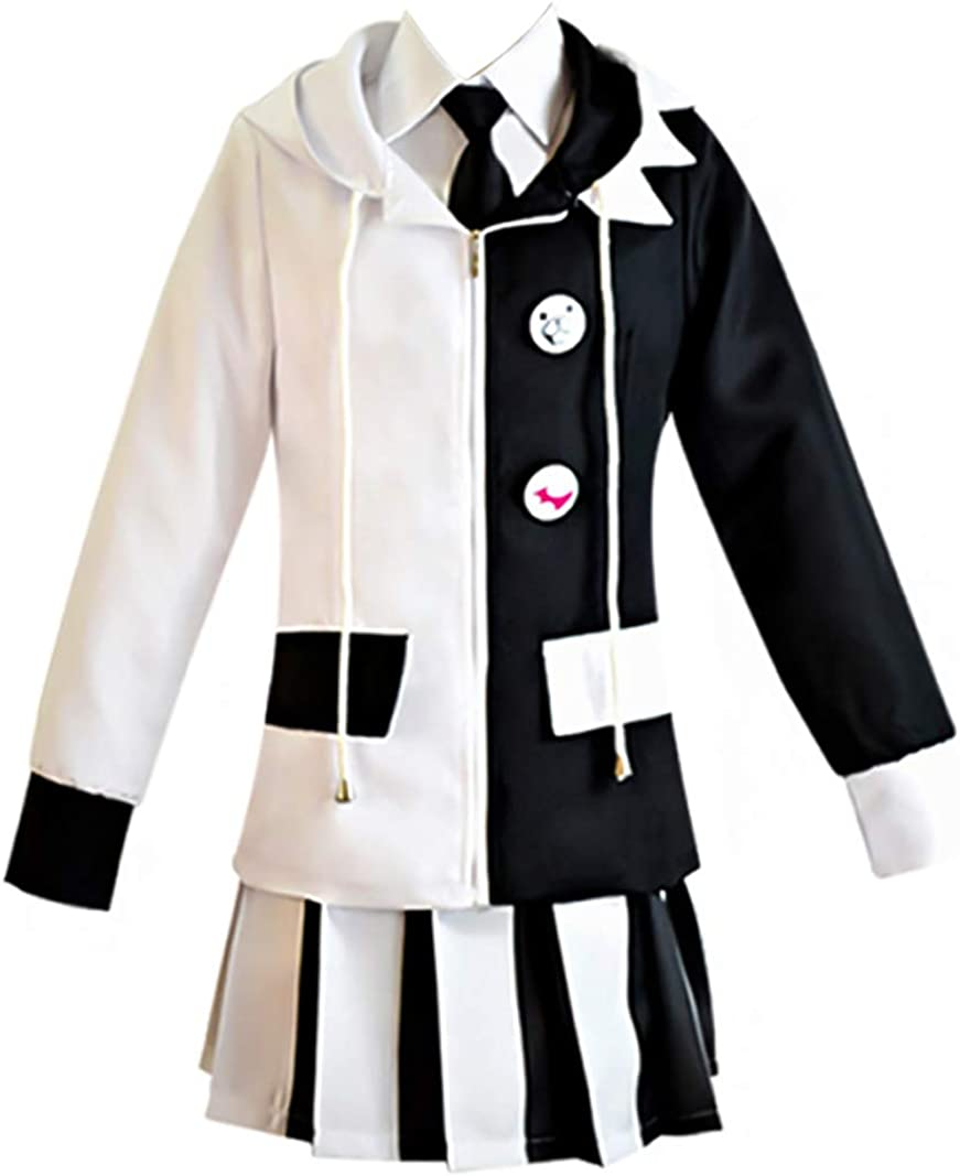 Danganronpa 2 Blooded Monokuma Black White Bear Cosplay Costume Uniform Full Set