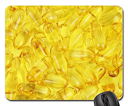 Mouse Pad - Capsule Capsules Cod Diet Fat Fish Food Health