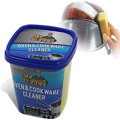 Oven & Cookware Cleaner Stainless Steel Cleaning Paste Remove Stains from Pots Pans Multi-Purpose Cleaner & Polish Removes Residue Water Marks Universal Cleaning Paste for Removing Rust