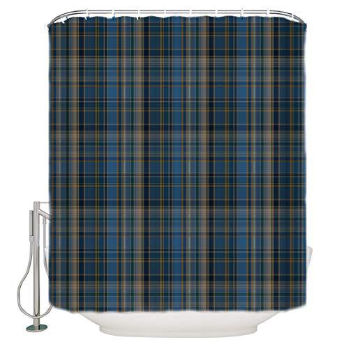 "Libaoge Shower Curtain Set - Plaid Curtains Classic Tartan Plaid Cells Stripes Geometric Pattern Art Print Bathroom Shower Decor Waterproof Polyester Fabrics Comstomized Design 36"" W x 72"" H"