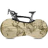 LisaArticles - Cubierta para Rueda de Bicicleta, diseño de Mapa del Mundo del Siglo XIX Bicicletas Plegables o Bicicletas de Carreras