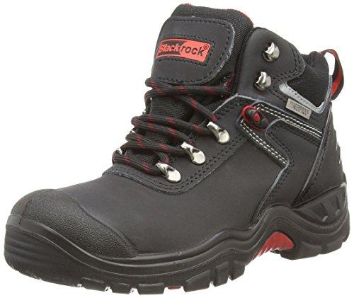 Blackrock SF58 , zapatos de seguridad de cuero unisex, negro, 42 EU (8 UK)