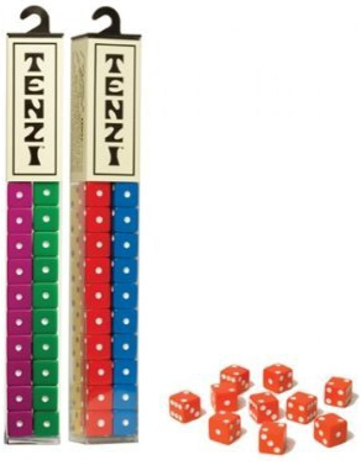 Tenzi for 8 Players  Assorted colors  8 Sets of Ten Dice by Tenzi