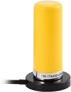 Mugast Antenna Radio Antenna Radio VHF//UHF Dual Band per Veicoli con Connettore per Cavo di Montaggio Magnetico UHF-PL259 Giallo