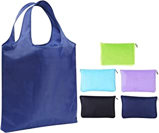 Reusable Grocery Bags - Foldable Shopping Tote Bag - Durable and Lightweight (5 Pack)