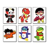 """Cartoons Ryan's World Theme Wall Art Painting Set of 6 Pieces (8""""X10""""Canvas Picture) Boys Birthday Gift Kids Nursery Wall Brothers Room Teens Video Game Room Art Prints Unframed"""