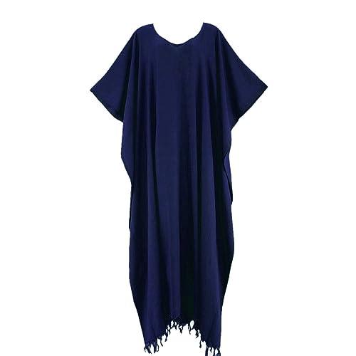 Beautybatik Beach Caftan Kaftan Loungewear Maxi Long Dress Plus XL to 4X 661742604
