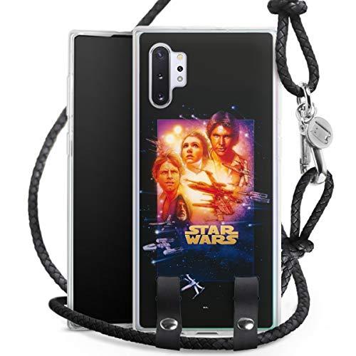DeinDesign Carry Hülle kompatibel mit Samsung Galaxy Note 10 Plus Hülle mit Kordel aus Leder Handykette zum Umhängen schwarz Silber Star Wars Fanartikel Special Edition