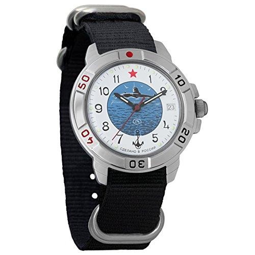 Vostok Komandirskie 2414 431055NB Russische Militär U-Boot U-Boot Mechanische Uhr