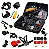 Navitech 30 in 1 Action Camera Accessory Combo Kit with EVA Case Compatible with The Garmin VIRB Ultra 30