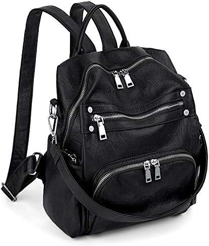 Women Backpack Purse Convertible PU Leather Ladies Rivet Studded Rucksack School Shoulder Bag product image