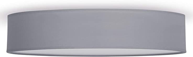 Smartwares IDE-60037 lampa sufitowa/abażur z tkaniny, 60 cm Ø, 4x E27, szary