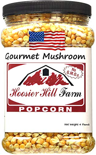 American Mushroom Mais für Rundes Popcorn (1,81 kg) USA Kino Popping Corn von Hoosier Hill Farm