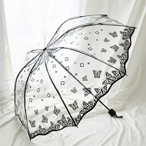 DAXINYANG Nuevo PVC Paraguas Mariposa Transparente, Paraguas De La Lluvia De Las...