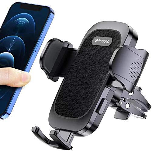 Soporte universal para teléfono móvil de coche, con 2 clips de tuyere de 360°, rotación de la puerta del teléfono, apto para todos los modelos de teléfonos de 4 a 7 pulgadas.