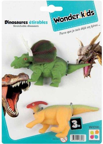 WDK PARTNER - A1300065 - Figurines - 2 dinosaures étirables