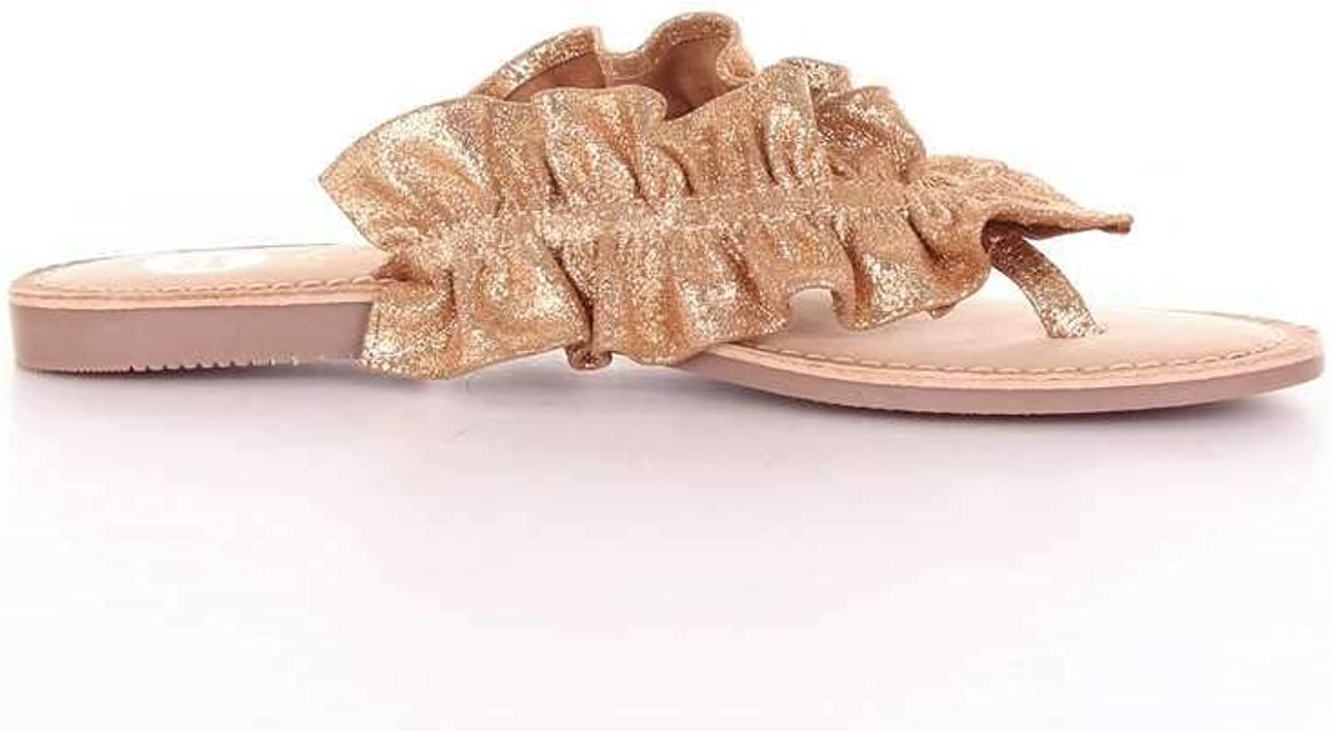 GIOSEPPO Women's 44764gold gold Leather Sandals