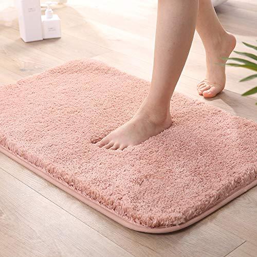 LY4U - Tappetino da bagno antiscivolo per vasca da bagno, ad asciugatura rapida, lavabile in lavatrice, soffice microfibra