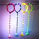 Wolong Flashing flick Ball Fitness Set de pie de la bola de salto de los niños juguete giratorio de la pelota de baile, verde