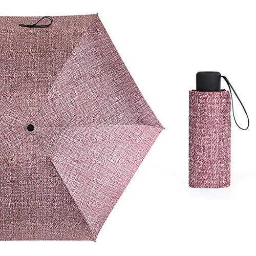 ZGMMM Sombrilla de Bolsillo UV Sombrillas Sombrilla portátil Sombrilla Sunny Umbrella China 03 Fucsia
