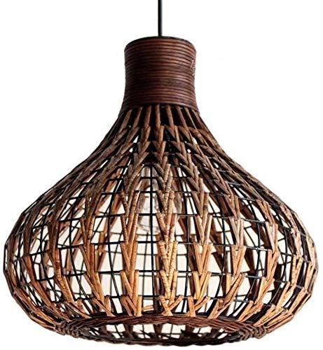 Office kroonluchter Natural Bamboo Chandelier Creative DIY Rattan lampenkappen Weave Opknoping Lamp Onderzoek kamer kroonluchter