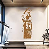 ASFGA Abnehmbare Tapete Basketball Poster Sport Mann