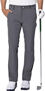 aoli ray Mens Golf Waterproof Trousers Slim Fit Lightweight Stretch Tapered Pants Grey Size Large