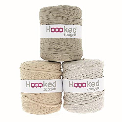 Hoooked Zpagetti Textilgarn 120 m Rolle alle Farben zur Wahl (beige)