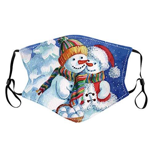 QIMANZI Unisex Weihnachten Mund Schutz mit Motiv Mundbedeckung Waschbar Mund und Nasenschutz Erwachsene Weihnachten Kostüm Zubehör Mundschutz Motorrad Halstuch(A8)