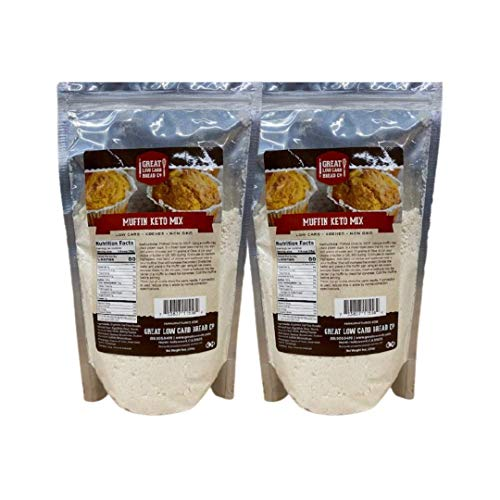 Keto Muffin Mix 9oz Pack of 2 by GLCB Co | Just 5g net carbs per serving | Gluten-Free, Low Carb, Keto, Kosher, Non-GMO | Best ever Tasty Keto Muffins
